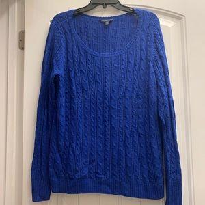American Eagle Royal Blue Crew neck sweater XL